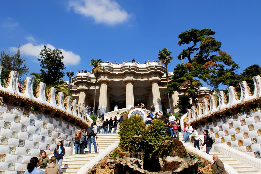 The beautiful and inspiring Park Güell, also known as Gaudi Park
